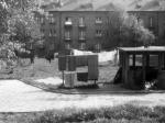 Chrzanów 1973 - podwórko za blokiem przy Kopernika