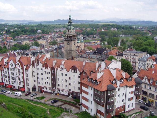 Widok z Twierdzy Kłodzkiej na miasto Kłodzko