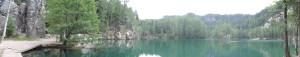 Adrspach - duże jezioro panorama