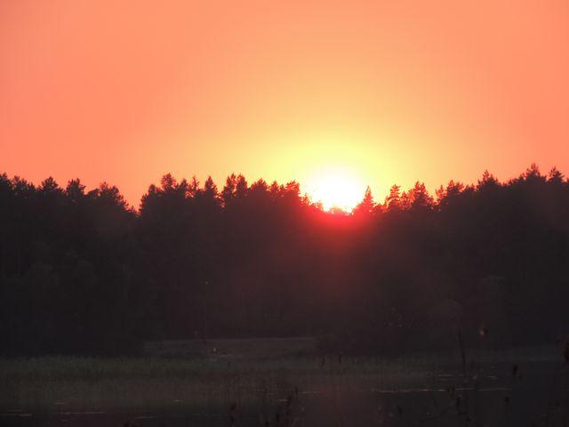 Zachód słońca nad Serwami
