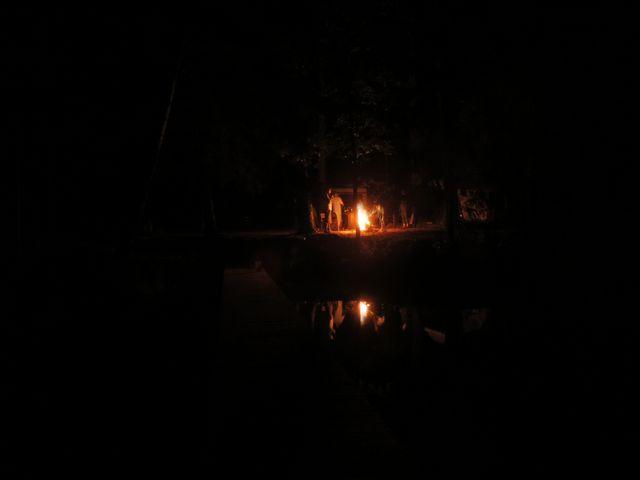 Camping w Suchej Rzeczce nocą