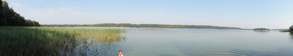 Jezior Serwy z pomostu - panorama