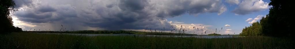 Jezioro Serwy - panorama, kliknij by  powiększyć