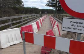 Most na trasie Sucha Rzeczka Czarny Bród zamknięty